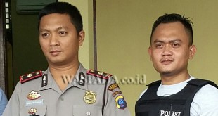 Kapolsek Medan Sunggal, Kompol Daniel Marunduri SH SIK MH didampingi Kanit Reskrim Iptu Nur Istiono SH MH.(WOL. Photo/gacok)
