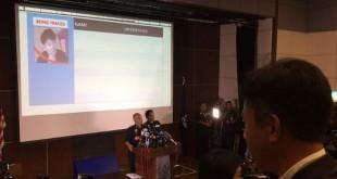 Polisi Malaysia gelar konferensi pers soal pembunuhan Kim Jong-nam. (Foto: Twitter/Sumisha Naidu)