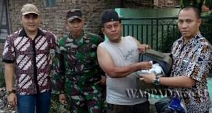 Petugas Babinsa Koramil 11/MD dan Kodim 0201/ BS, mengamankan sabu 3 Kg.(WOL. Photo/gacok)