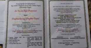 Undangan pernikahan gaib antara Pangkalima Burung dengan perempuan yang mengaku titisan Nyi Roro Kidul (Foto: Istimewa)