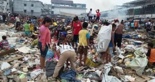 Pasar Kampung Lalang rata dengan tanah akibat digusur. (WOL. Photo/gacok)