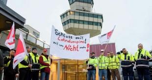 Aksi mogok kerja petugas Bandara di Berlin. (thelocal)