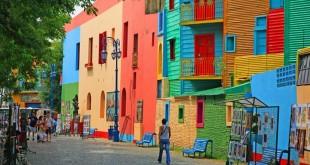 Rumah Pelangi di Argentina (foto: Hiroshi Higuchi)