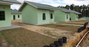Rumah Relokasi Pengungsi Erupsi Gunung Sinabung (Foto: BNPB)