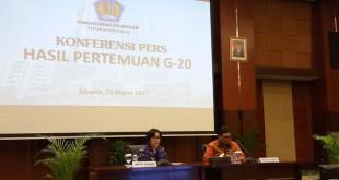 Foto Sri Mulyani soal G20 (Lidya/Okezone)