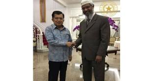 Wakil Presiden Jusuf Kalla bertemu dengan Zakir Naik di rumah dinasnya (Foto: Facebook/Hanny Kristianto)