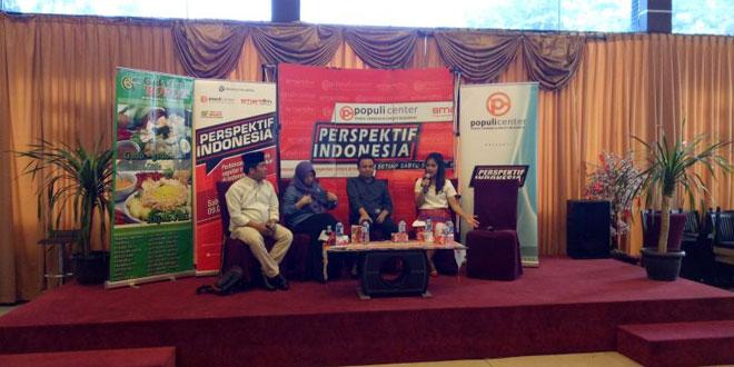 Diskusi tentang revisi UU Pemilu yg digelarPopuli Centre (Foto: Putera Negara/Okezone)