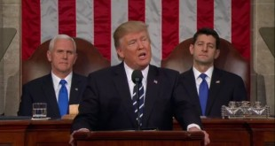 Donald Trump sampaikan state of union di Kongres AS. (Foto: AP)