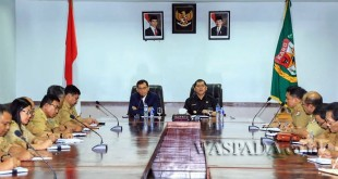 Bupati Simalungun JR Saragih melakukan kunjungan kerja ke Kabupaten Karo, Sumatera Utara, Selasa (21/3) / WOL Photo