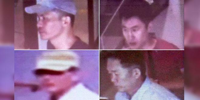 Empat orang warga Korut yang menjadi tersangka pembunuhan Kim Jong-nam (Foto: Polis Diraja Malaysia)