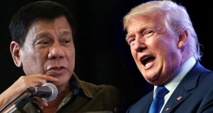 Foto Presiden China Donald Trump dan Presiden Filipina Rodrigo Duterte (Foto: AP)