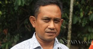Kabid Pengairan Dinas PUPR Kabupaten Aceh Utara, Asnawi. (WOL Photo/Chairul Sya'ban)