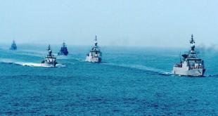 Kapal perang di latihan besar-besaran TNI di Laut Natuna. (Foto: Banda Haruddin Tanjung/Okezone)