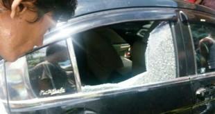 Mobil Honda City yang ditembak polisi (foto: Okezone)