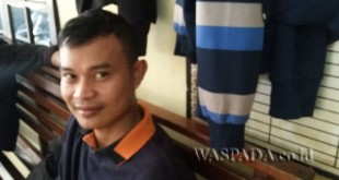 Reza Saputra alias Putra selaku ipar korban Deby Setya.(WOL. Photo/gacok)