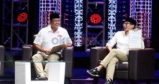 Anies Baswedan-Sandiaga Uno saat hadir di Manager Forum MNC Group (Heru/Okezone)