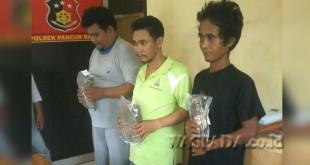Tiga tersangka pengedar narkoba dibekuk polisi.(WOL. Photo/gacok)