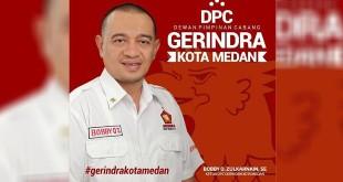 Ketua DPC Gerinda Kota Medan, Bobby O Zulkarnain SE. (foto: istimewa)