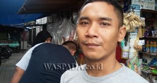 Harianto penduduk Jalan Polonia, Gang Subur, Medan Polonia, akui Bunga menjadi korban pelecehan seksual Opung.(WOL Photo/gacok)