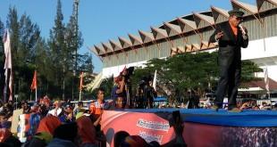 Irwandi Yusuf saat kampanye Pilgub Aceh (Rayful M/Okezone)
