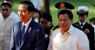 Presiden Indonesia, Joko Widodo dan Presiden Filipina, Rodrigo Duterte. (Foto: Reuters)