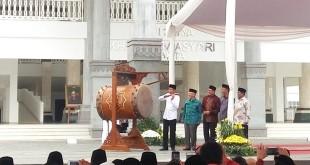 Presiden Jokowi Meresmikan Masjid Daan Mogot (Foto: Rikhi/Okezone)