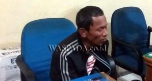 Mantan Kepling Pasar II, Kelurahan Babura, Kecamatan Medan Baru Mhd Firdaus alias Tafir mengakui, jual narkoba karena butuh uang untuk biaya perobatan ibunya.(WOL Photo/gacok)