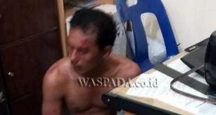 Tersangka perampok diamankan di Polsek Medan Sunggal.(WOL Photo/gacok)