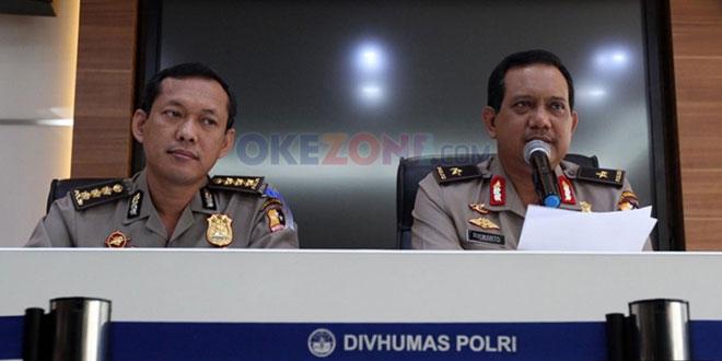 Karopenmas Polri Brigjen Rikwanto (kanan) saat memberi keterangan pers (Arif/Okezone)