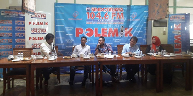 Diskusi Polemik Sindo Trijaya. (Foto: Dara Purnama/Okezone)