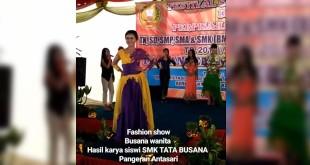 Fashion Show busana wanita hasil karya siswa SMK Tata Busana Pangeran Antasari