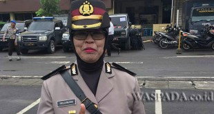 Kapolsek Medan Helvetia yang baru, Kompol Dra Hj Trila Murni SH. (WOL. Photo/gacok)