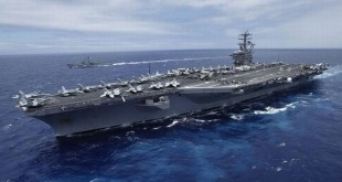 Kapal perang AS, USS Nimitz berlayar ke Semenanjung Korea. (Foto: Reuters)
