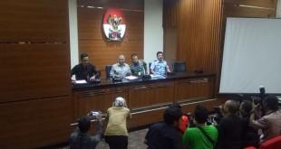 Panglima TNI dan KSAU di KPK. (Putera N/Okezone)