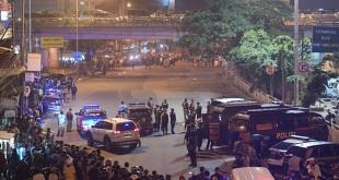 Lokasi bom bunuh diri di Terminal Kampung Melayu, Jakarta Timur (Sigid/Antara)