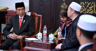 Presiden Jokowi di China untuk menghadiri KTT Jalur Sutra. (Foto: Twitter/Sekertariat Negara)