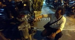 Sepeda motor Honda Vario diamankan di Mako Polsek Medan Sunggal. (WOL Photo/gacok)
