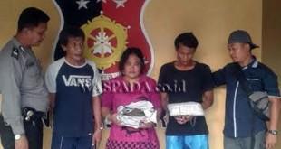 2 Warga Binaan Permasyarakatan (WBP) Tanjung Gusta dan wanita pemasok narkoba diamankan di Mako Polsek Medan Helvetia.(WOL Photo/gacok)