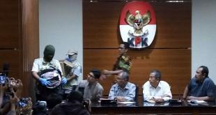 Pimpinan KPK saat beri pernyataan ke awak media (Foto: Fakhrizal Fakhri/Okezone)