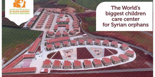 Inilah kompleks perumahan yang dibangun untuk para anak yatim korban perang sipil Suriah (Foto: Twitter)