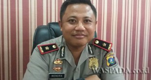 Kapolsek Medan Baru Kompol Hendra Eko Triyulianto SIK SH MH, akui tersangka cabul resmi ditahanan.(WOL. Photo/Gacok)