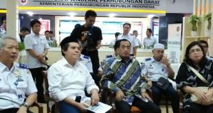 Video Conference Menteri Perhubungan Budi Karya (Foto: Lidya Sembiring/Okezone)