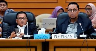 Ketua Pansus RUU Pemilu Lukman Edy (kanan) didampingi wakilnya Yandri (Antara)