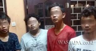 Polisi tangkap buronan empat maling kantor FKM USU. (WOL Photo/Gacok)