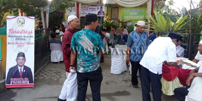 Sosialisasi Perda Pengelolaan Persampahan di Kecamatan Medan Marelan. (WOL Photo)