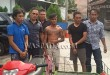 Kanit Reskrim Polsek Medan Area, Iptu Rudianto Silalahi SH, bersama anggotanya menangkap tersangka kasus pencurian betor.(WOL. Photo/Gacok).