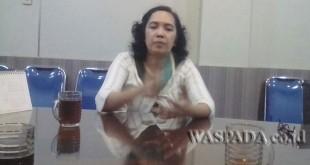 Kepala UPT Aplikasi, Informasi dan Geospasial,  Poppy M Hutagalung. WOL Photo