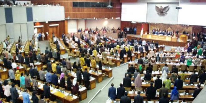 Rapat paripurna di DPR soal RUU Pemilu (foto: Bayu/Okezone)