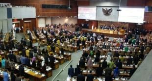 Sidang Paripurna revisi UU Pemilu (Foto: Bayu/Okezone)