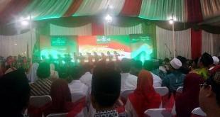 Halalbihalal bersama Presiden Jokowi dan 999 kiai khos NU di Semarang (Taufik/Okezone)